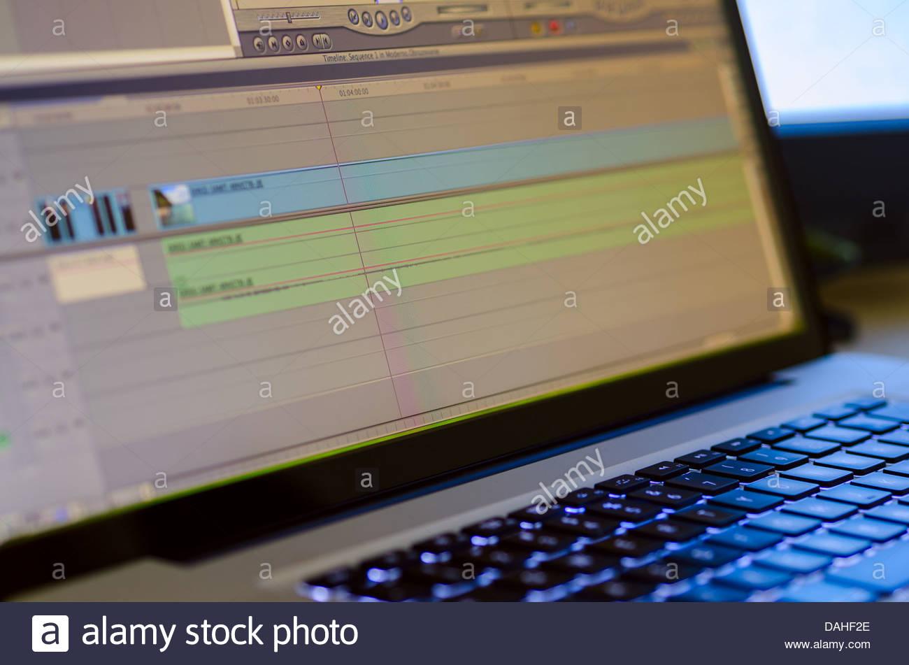 Professional video editing equipment - Stock Image