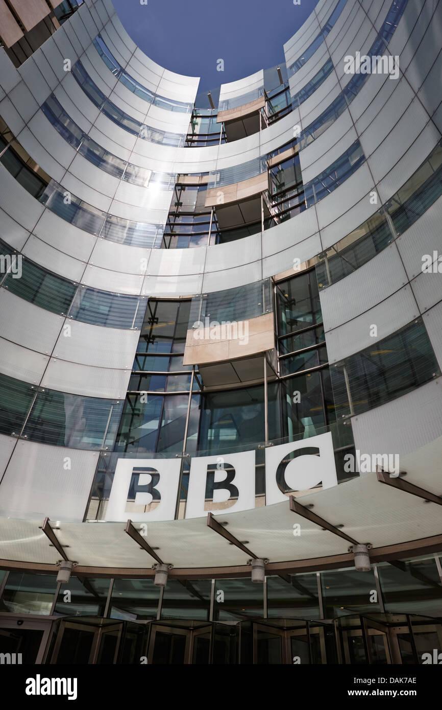 new bbc broadcasting house london, england uk Stock Photo
