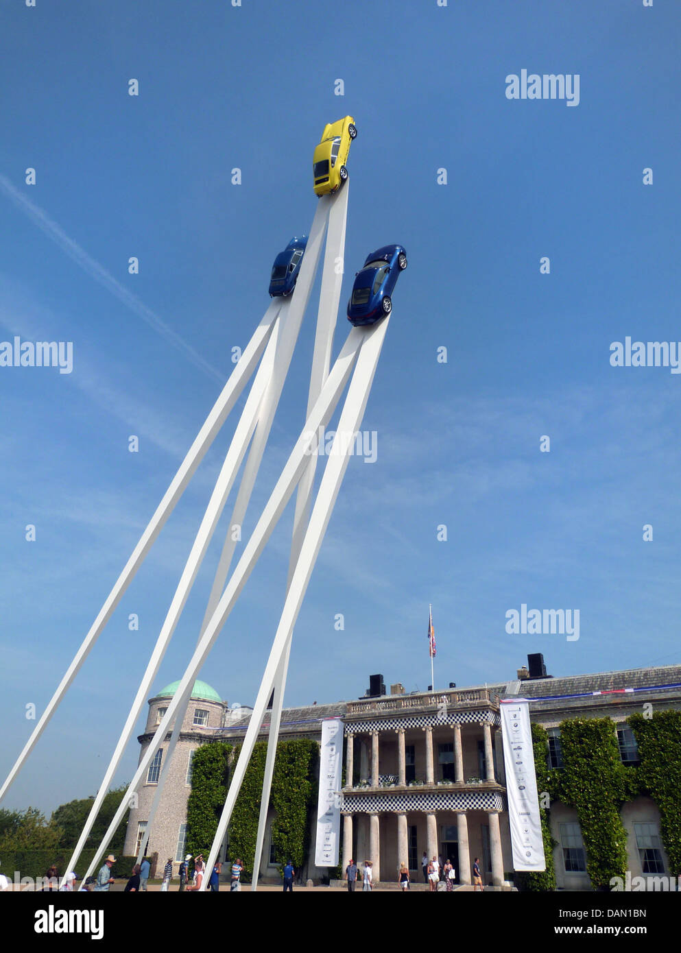 Goodwood Festival of speed 2013 sculpture outside Goodwood House - Stock Image