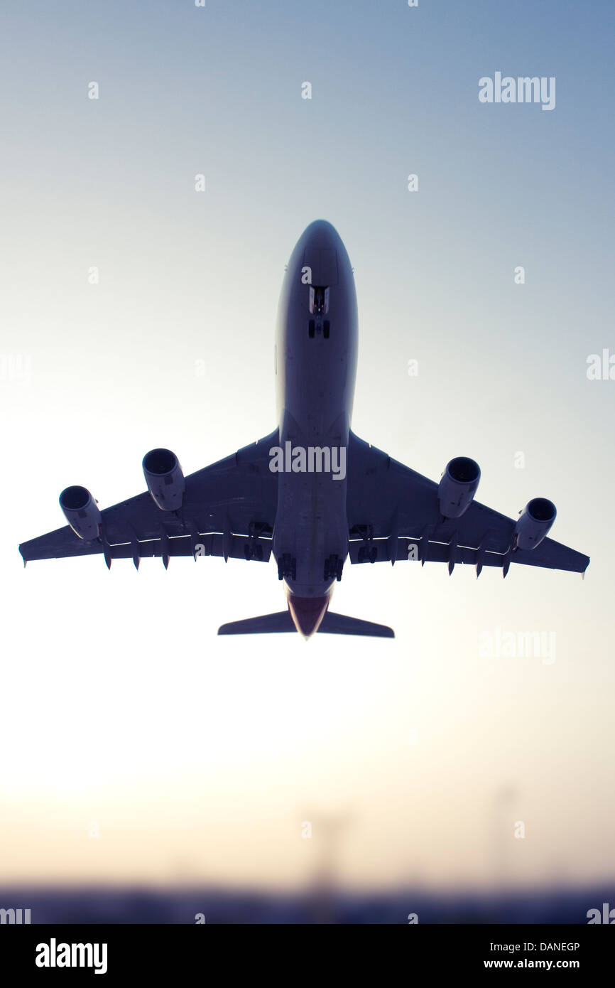Commercial airliner Stock Photo
