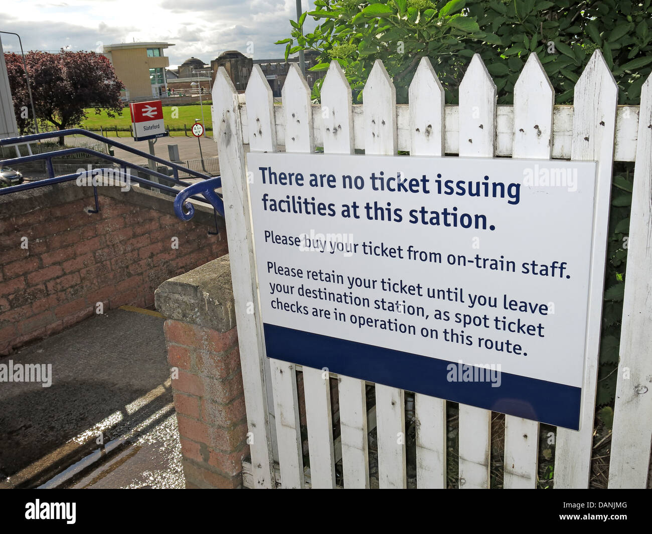 An,example,of,no,on,station,ticketting,at,Slateford,Edinburgh,Scotland,UK,EH14,1BX,EH141BX,there,are,no,ticket,issuing,facilities,at,this,scotrail,scot,rail,gate,platform,personnel,free,stations,BR,British,Rail,Britishrail,railways,railroad,beware,buy,tickets,in,advance,Scottish,scots,cuts,gotonysmith,Buy Pictures of,Buy Images Of