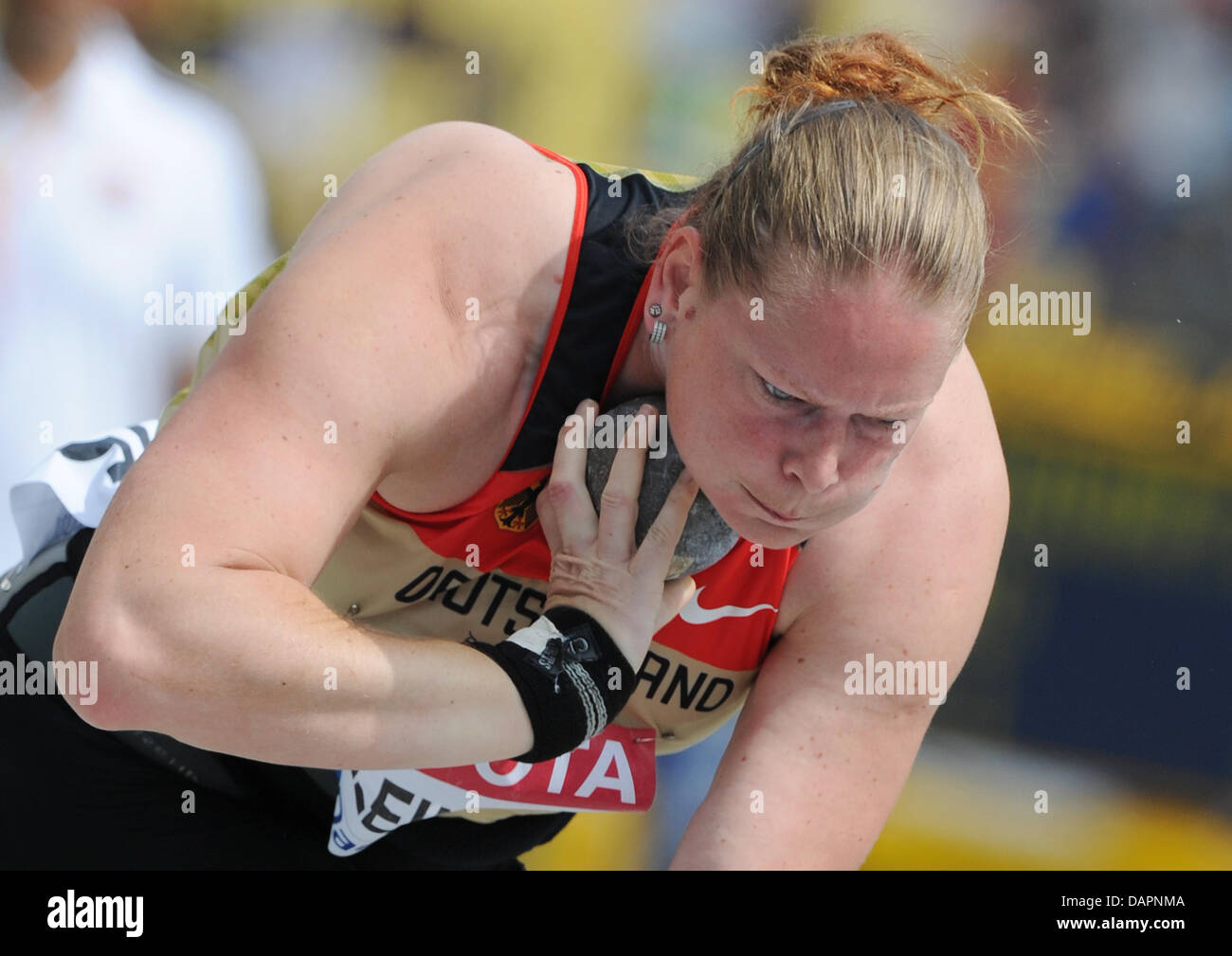 Nadine Kleinert of Germany competes in the Women's Shot Put Qualification at the 13th IAAF World Championships - Stock Image