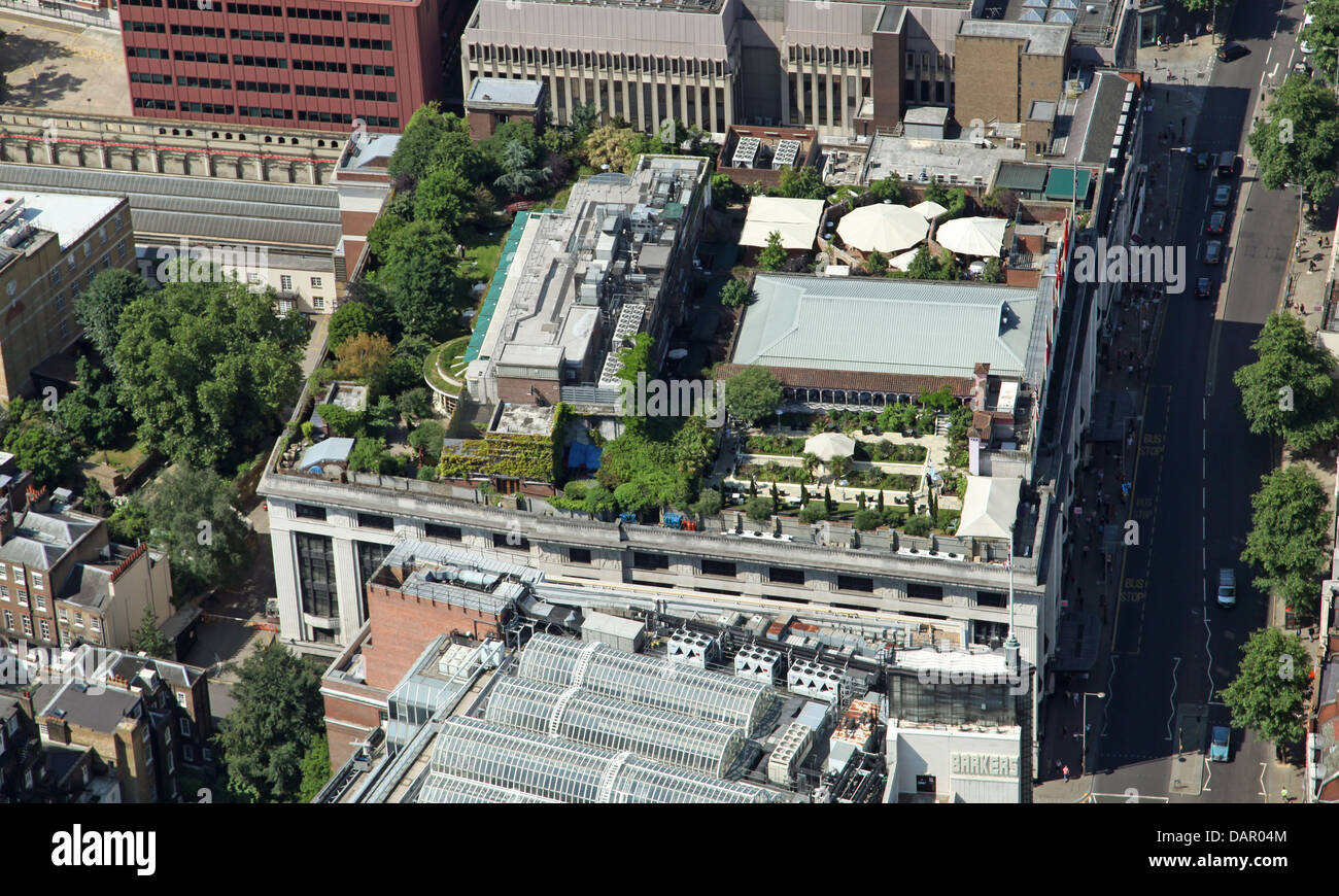 Aerial View Of A Roof Garden On A Building On Kensington