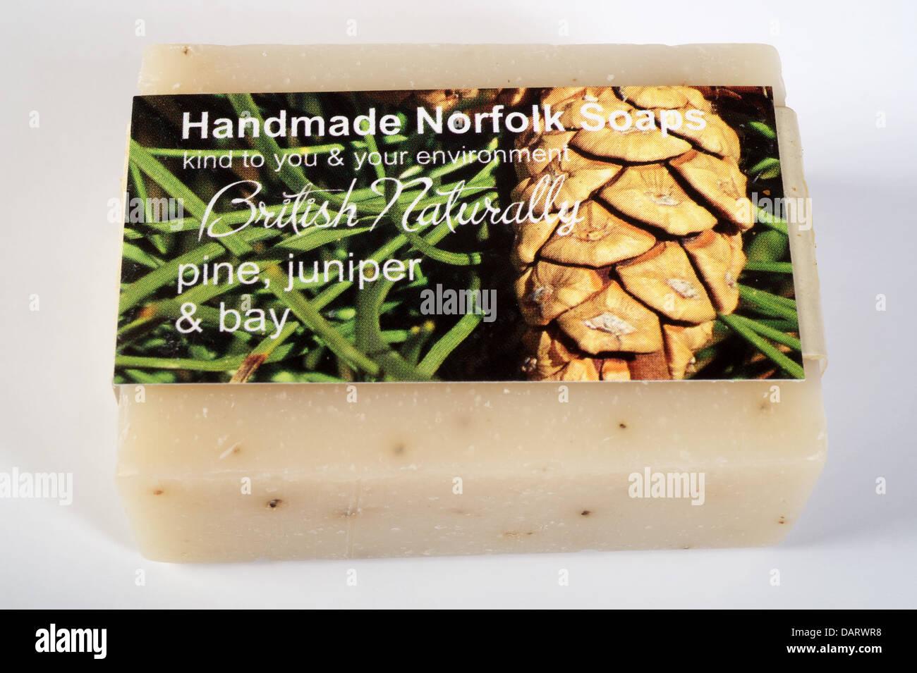 Environmentally friendly handmade Norfolk soap - Stock Image