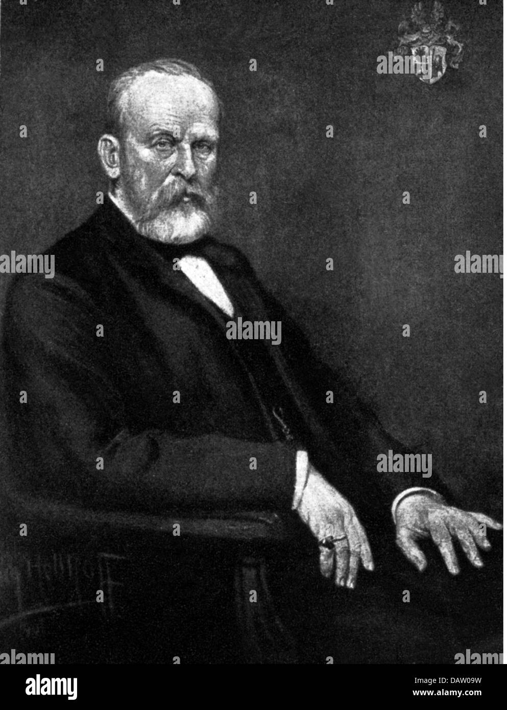 Richthofen, Ferdinand Baron von, 5.5.1833 - 6.10.1905, German traveler, geologist, geographer, half length, based - Stock Image