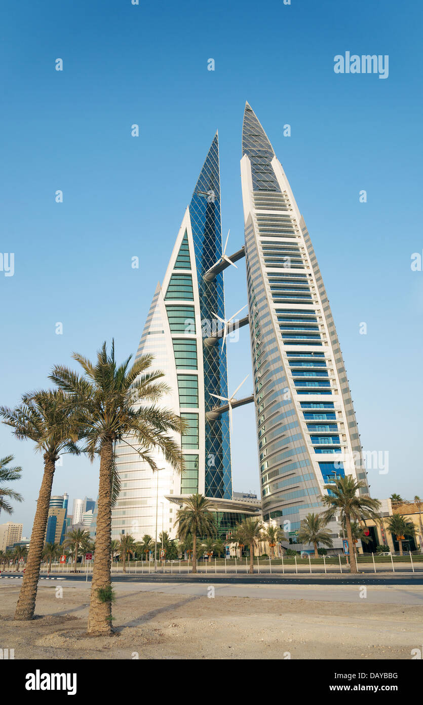 world trade center in manama bahrain - Stock Image