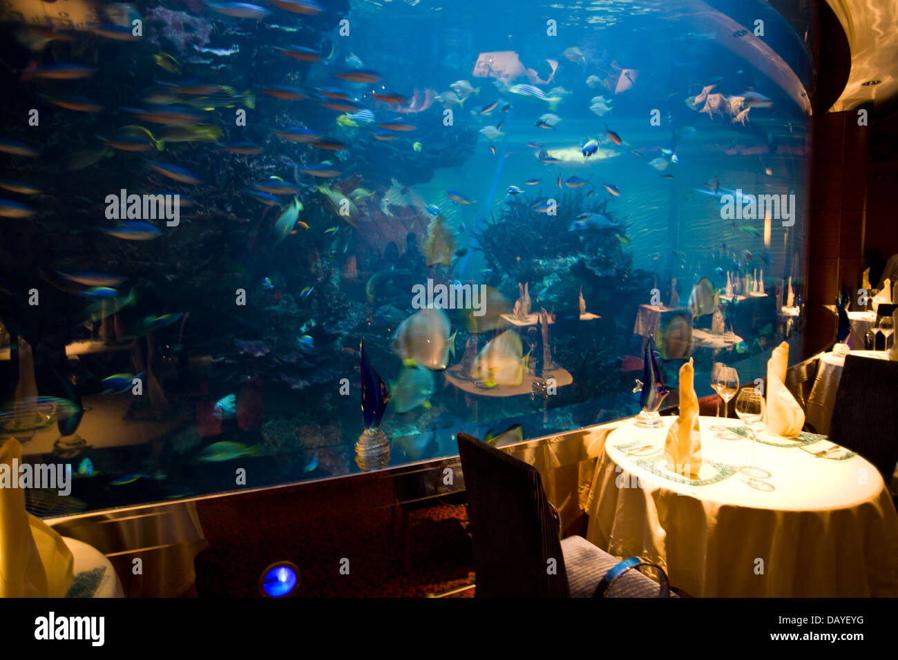 the al mahara aquarium restaurant burj alarab hotel