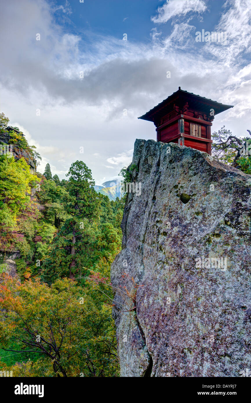 Yamadera Mountain Temple in Yamadera, Yamagata, Japan. - Stock Image
