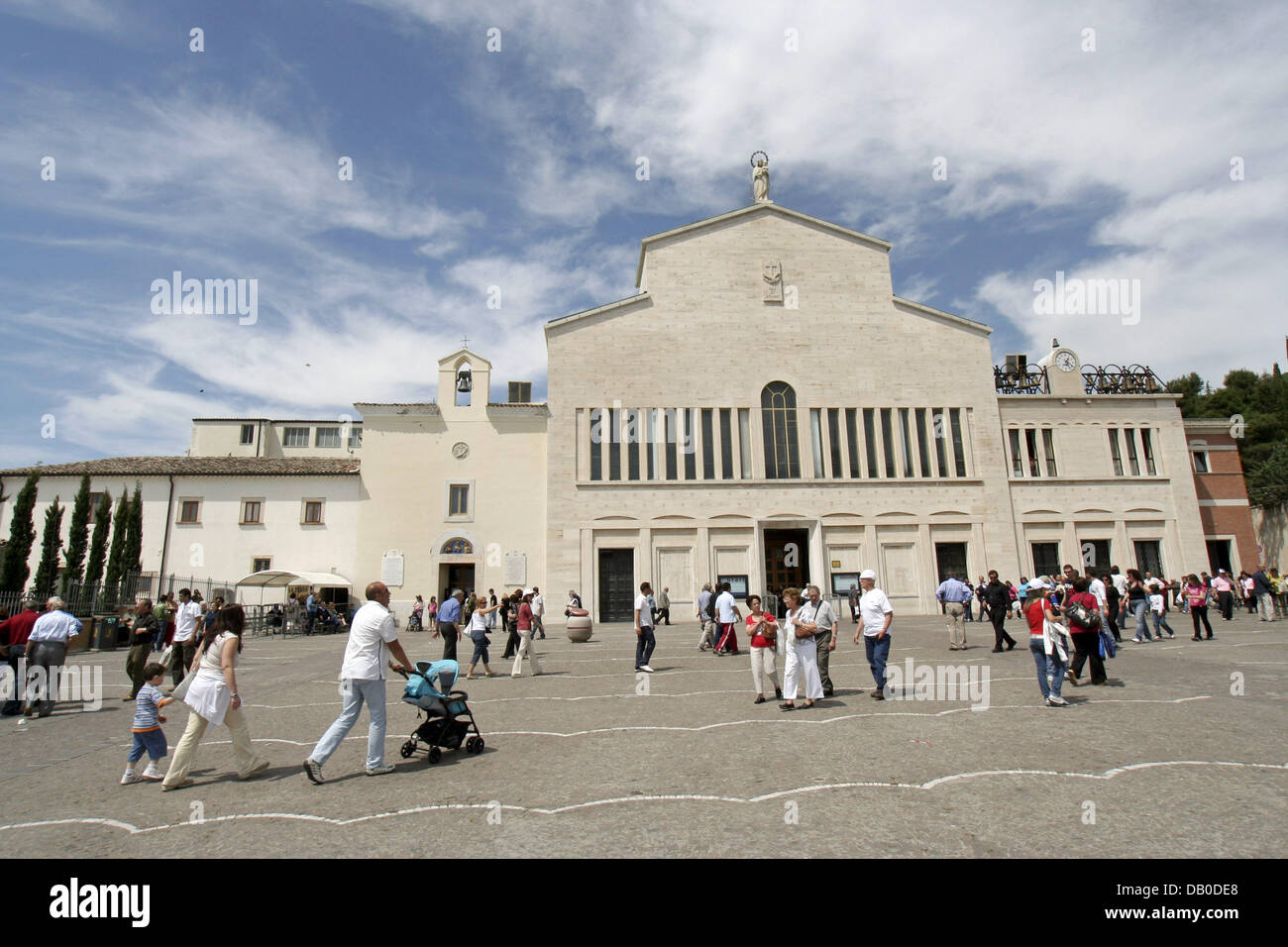 The picture shows the abbey of San Giovanni Rotondo, which was the home of the Italian saint Padre Pio since 1916 - Stock Image