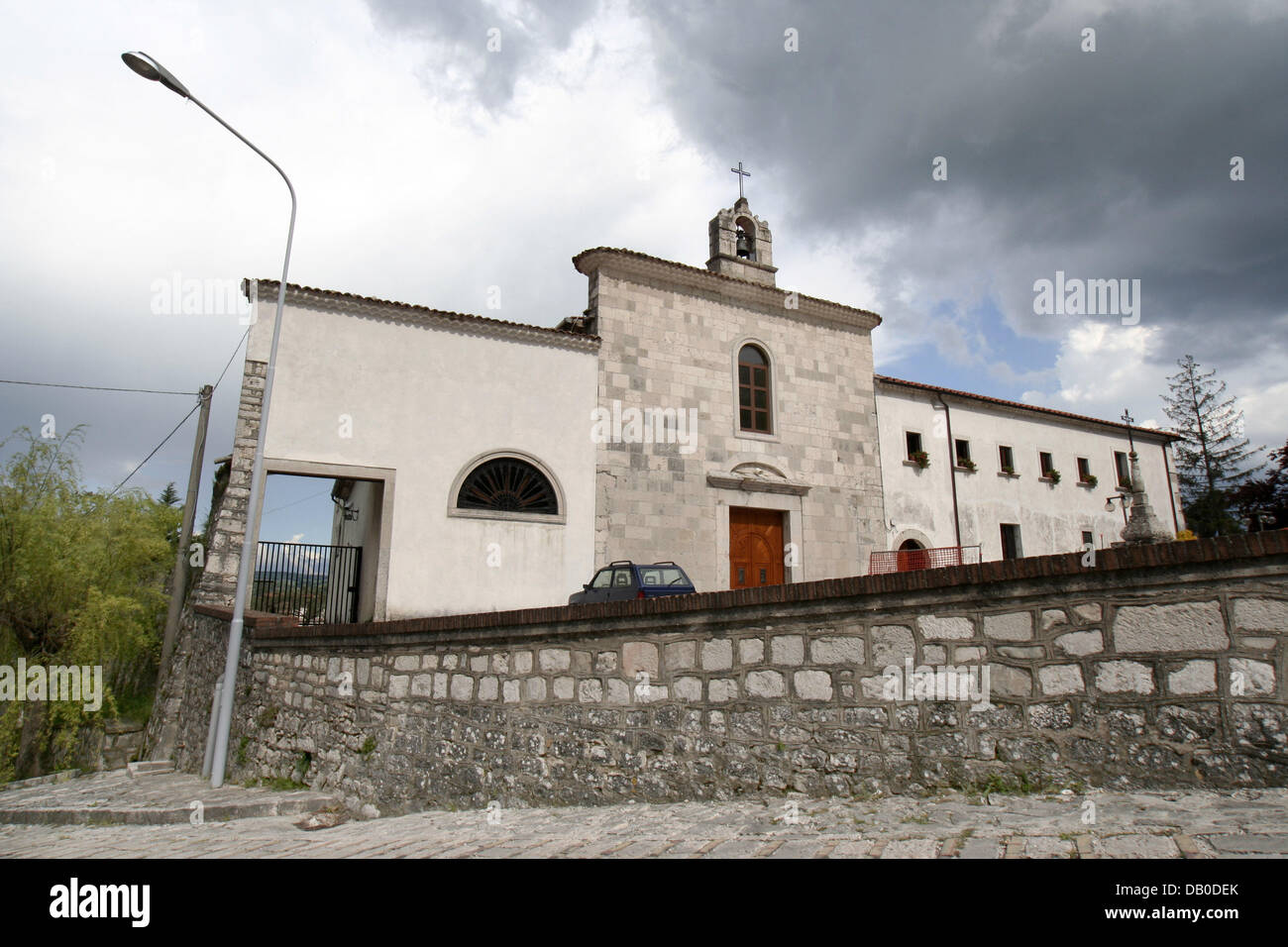 The picture shows Capuchin monastery which was home to the Italian saint Padre Pio from 1916 on in Morcone, Italy, - Stock Image