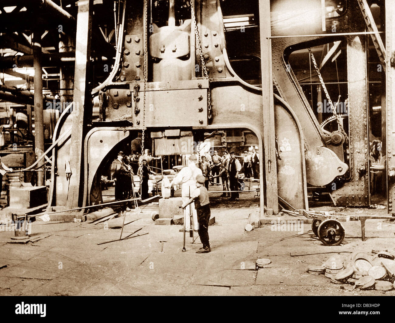 Penistone Steel Works 12 Ton Hammer early 1900s - Stock Image