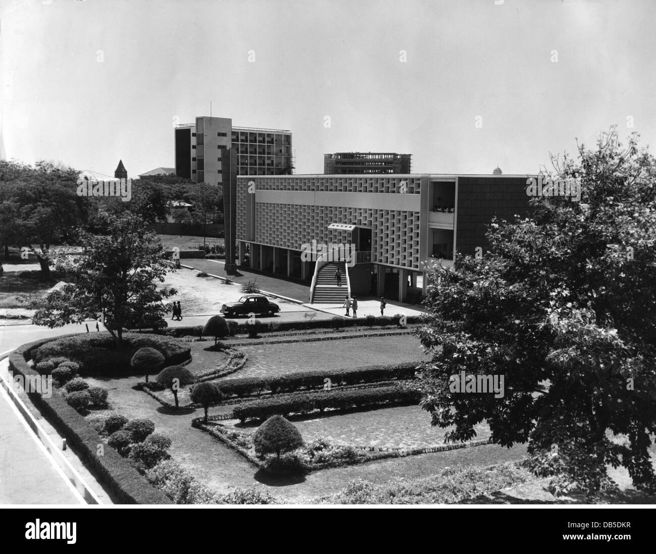 geography / travel, Ghana, Accra, buildings, central library, exterior view, circa 1960s, Additional-Rights-Clearences Stock Photo