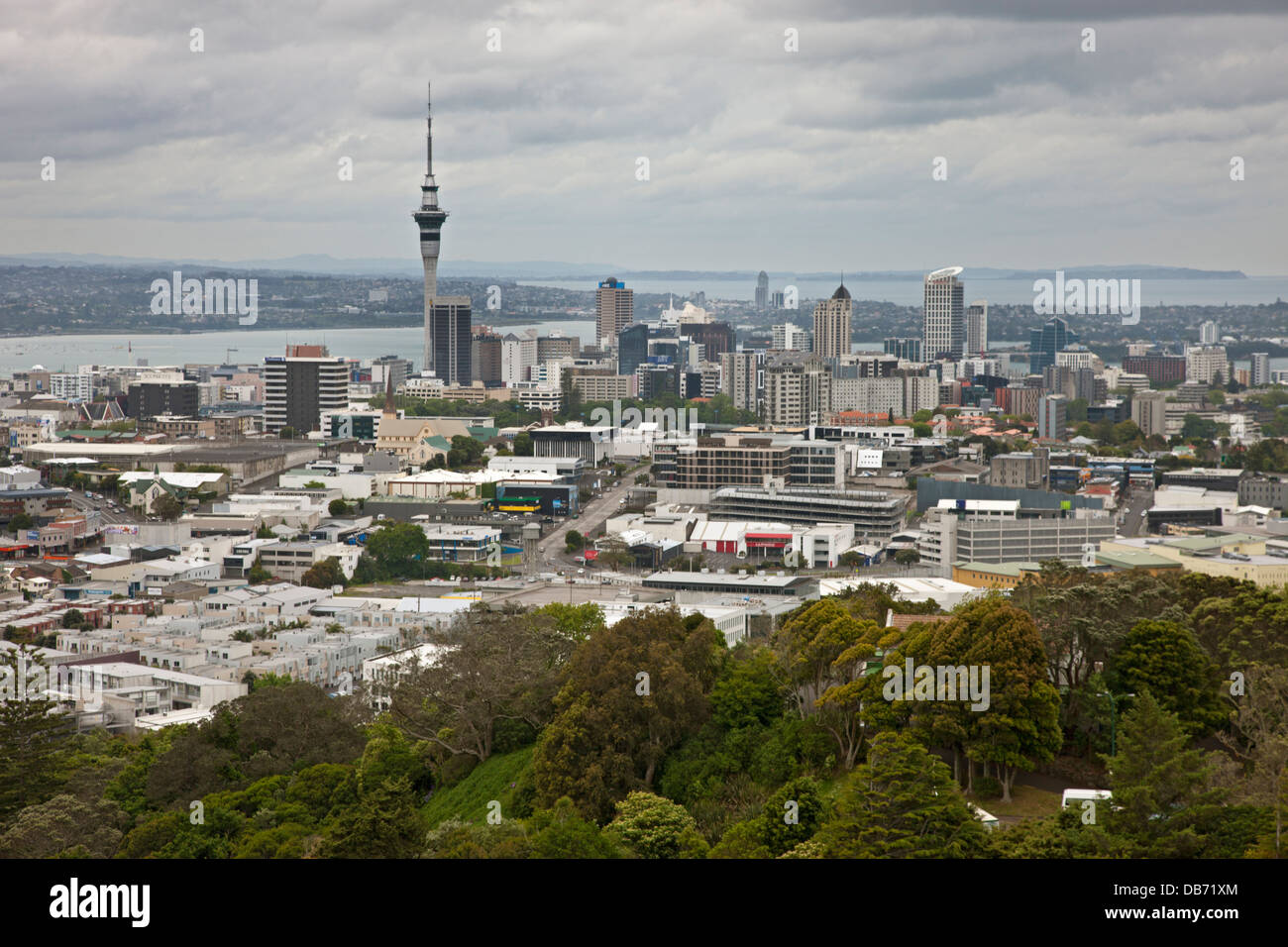 South Pacific, New Zealand, North Island, Auckland. Overview of the city. - Stock Image