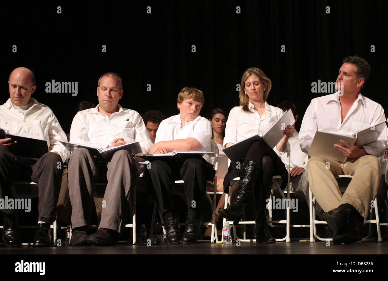 Robert Watzke, Zane Amundsen, Helen Slater and David Humphrey 'The Road To Freedom' live audience stage - Stock Image