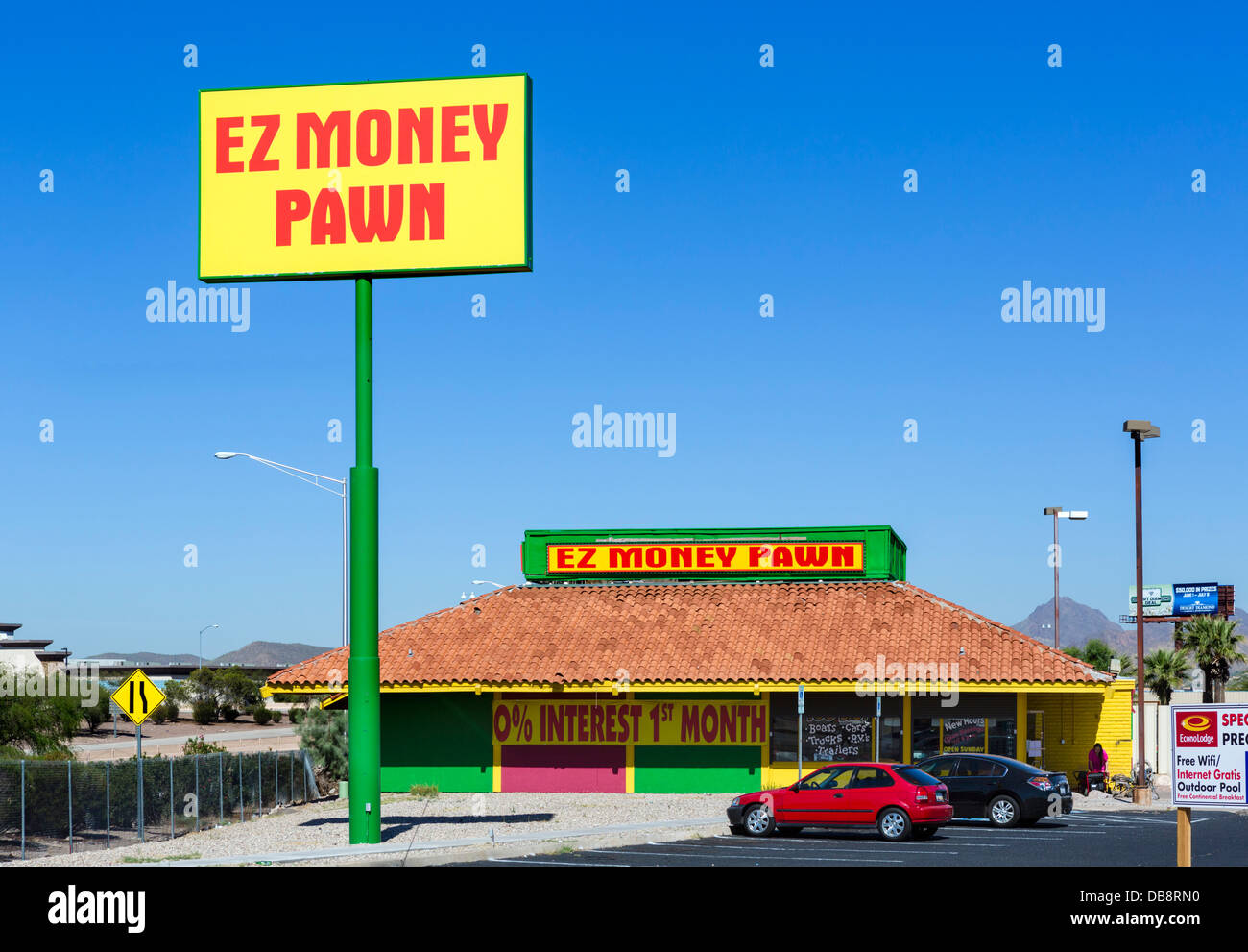 EZ Money Pawn Shop in Tucson, Arizona, USA - Stock Image