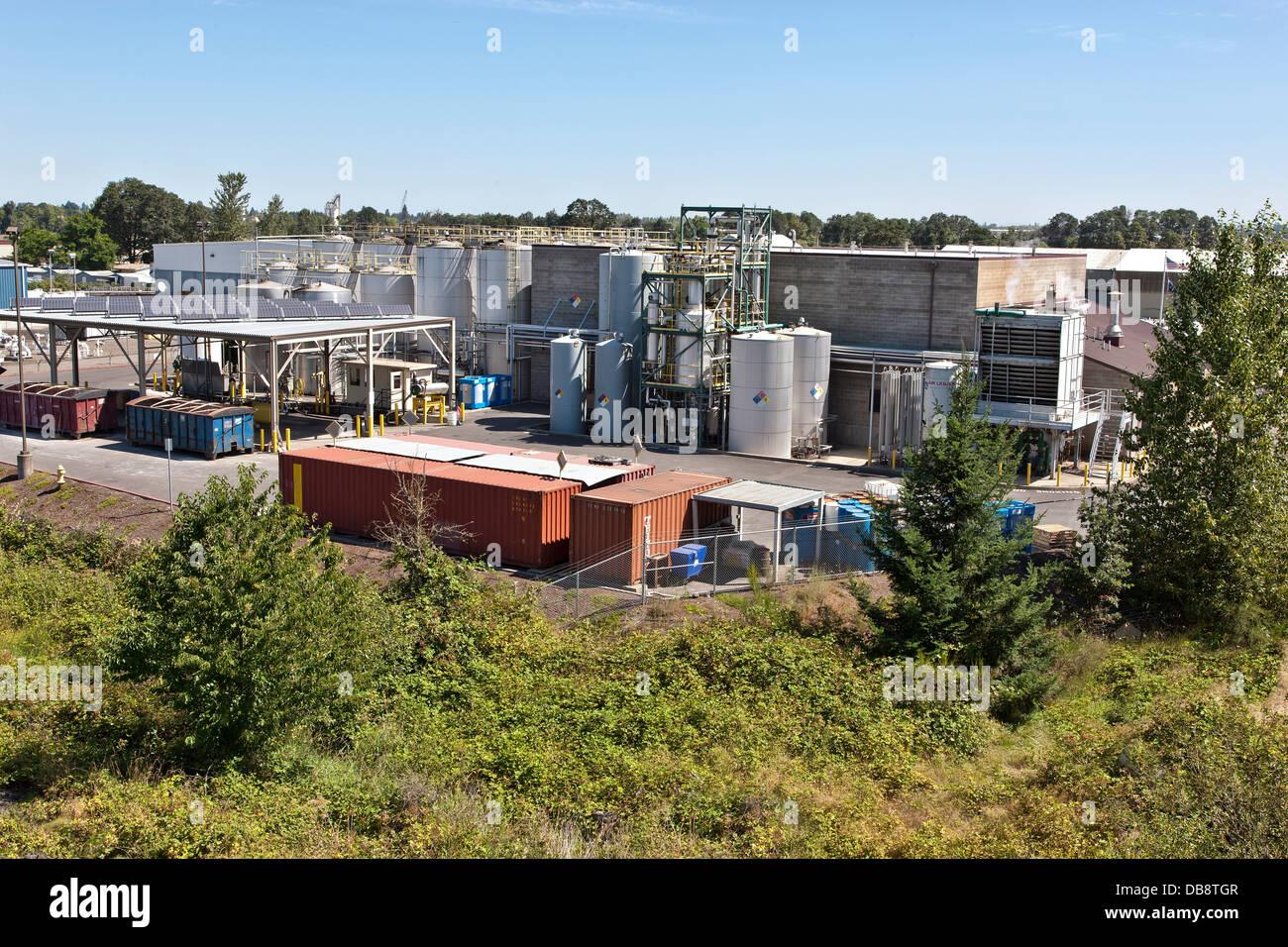 Biofuels production facility. - Stock Image