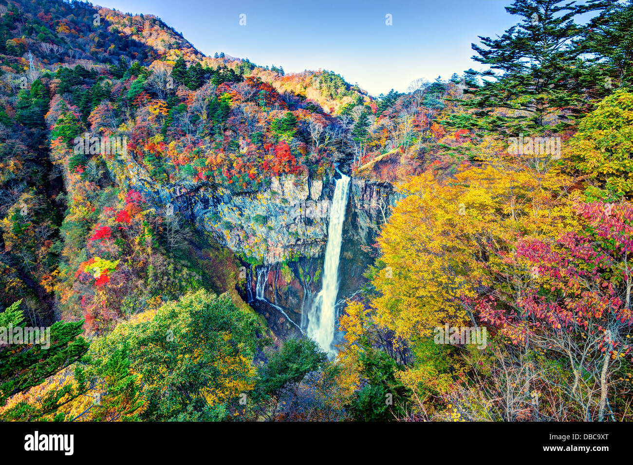 Kegon Falls in Nikko, Japan. - Stock Image