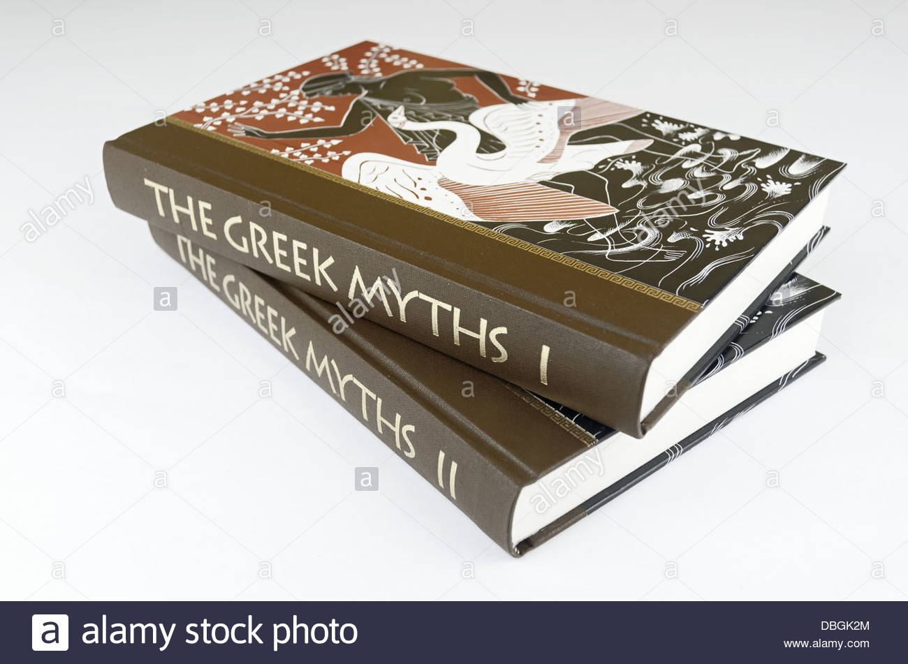 The Greek Myths, a compendium of Greek mythology, by the poet and writer Robert Graves. Published by The Folio Society. - Stock Image