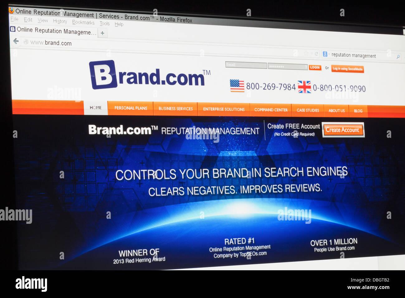 Screenshot of the brand.com homepage - Stock Image