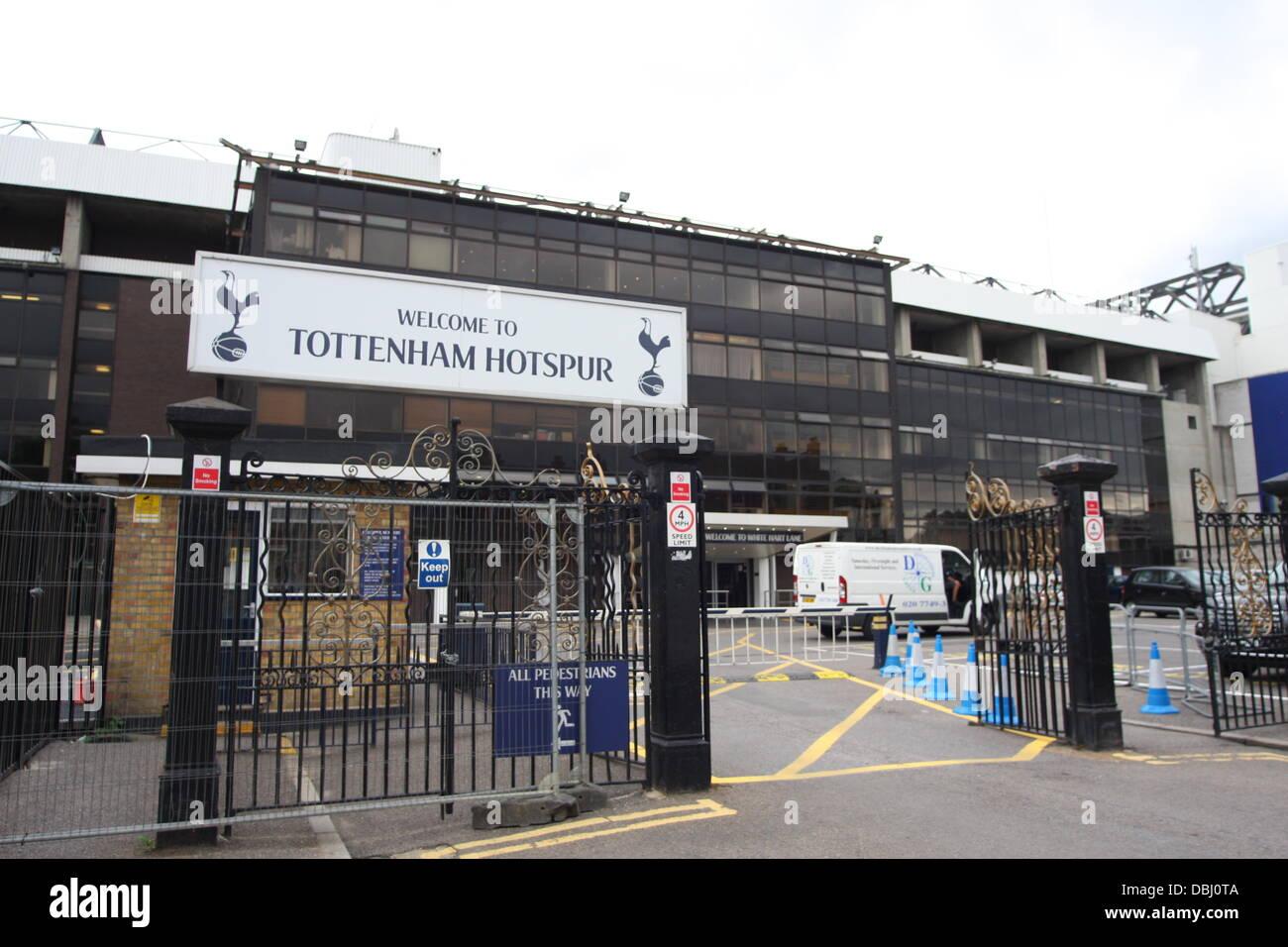 White Hart Lane Stadium, home of Tottenham Hotspur Football Club Stock Photo