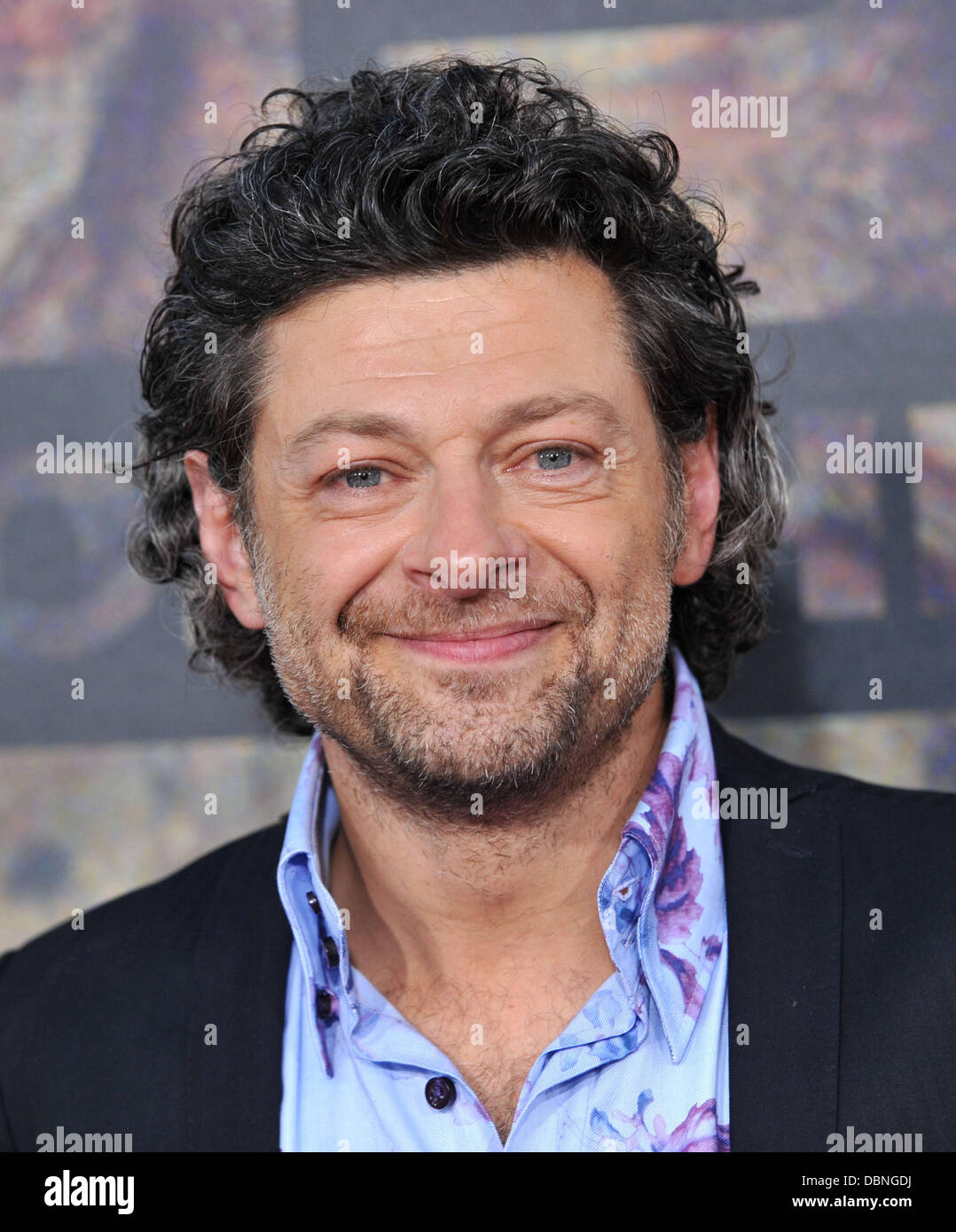 Andy Serkis The premiere of 20th Century Fox's 'Rise Of The Planet Of The Apes' held at Grauman's - Stock Image
