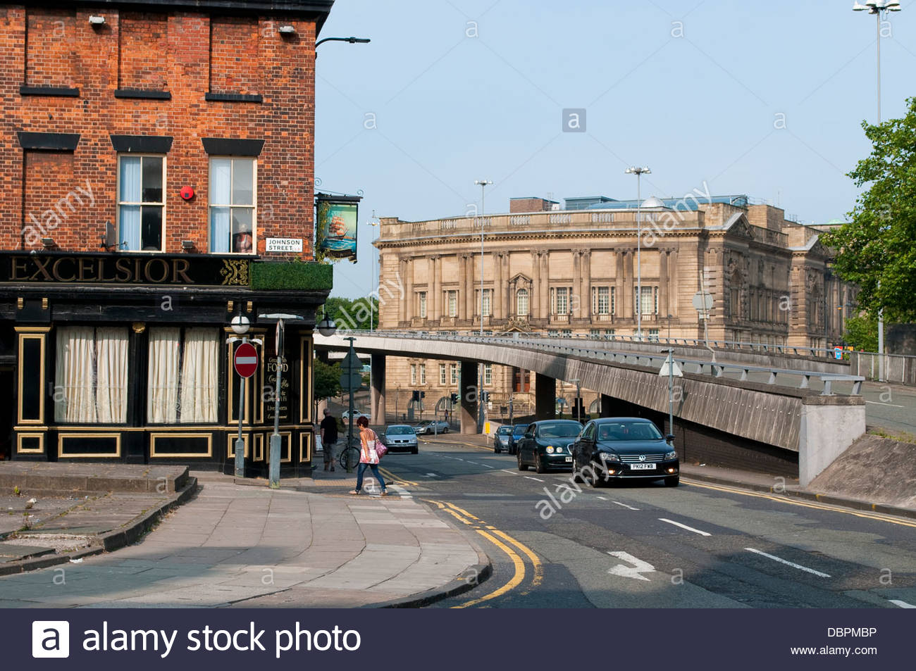 Dale Street flyover, Liverpool, UK - Stock Image