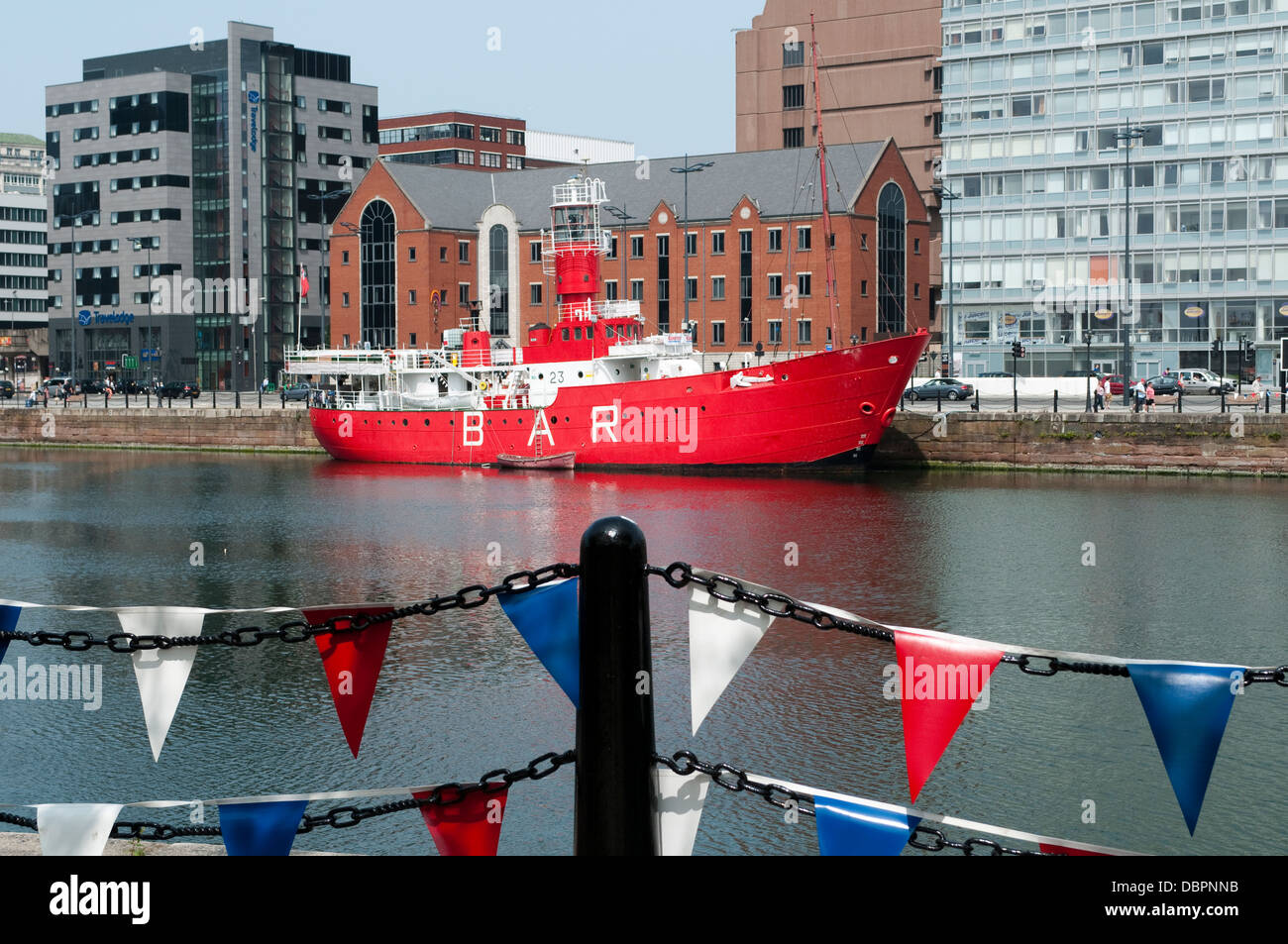 Boat Bar, Cunning Dock, Liverpool, UK - Stock Image
