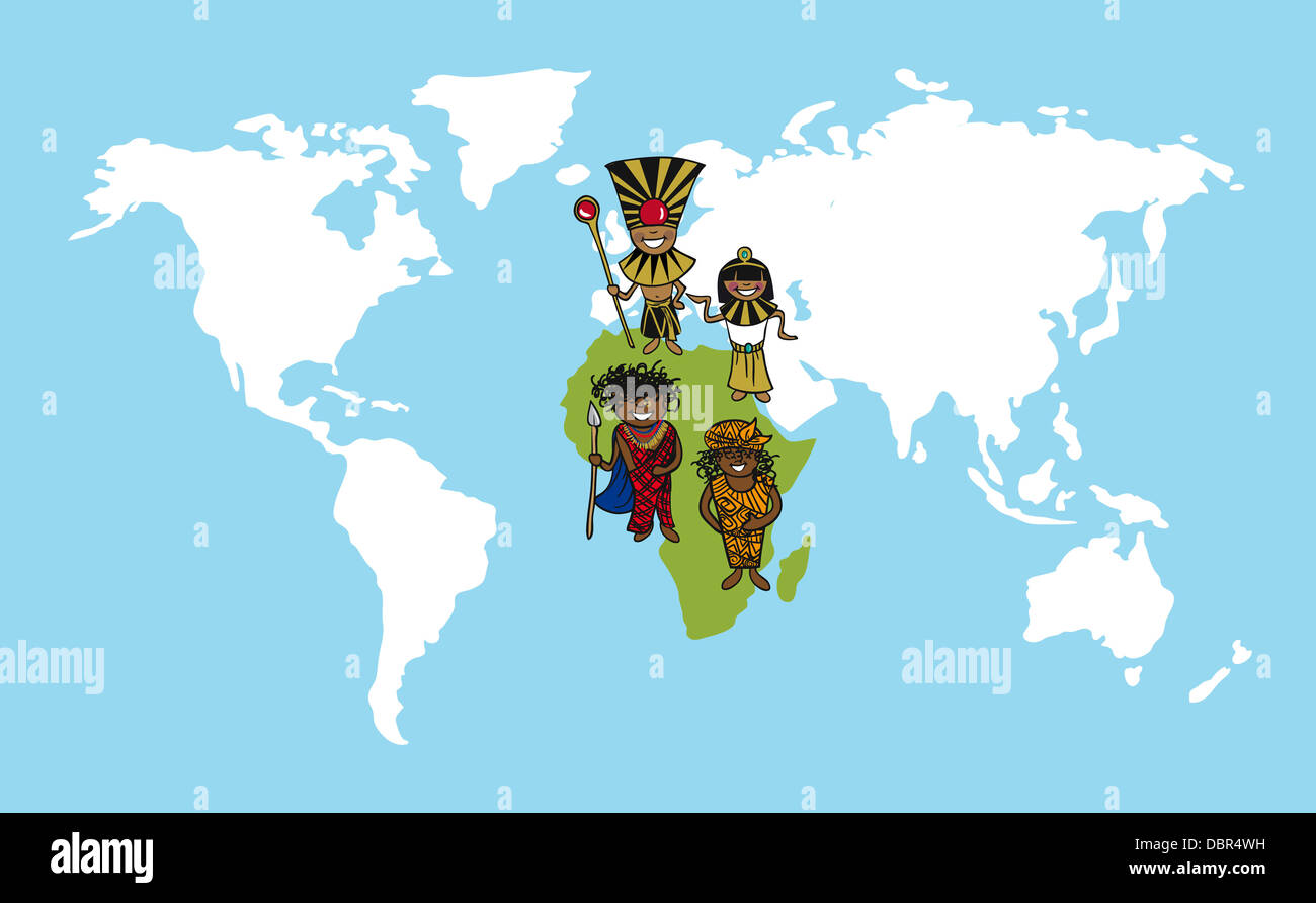 Diversity people concept world map team cartoon over african stock diversity people concept world map team cartoon over african continent vector illustration layered for easy editing gumiabroncs Choice Image