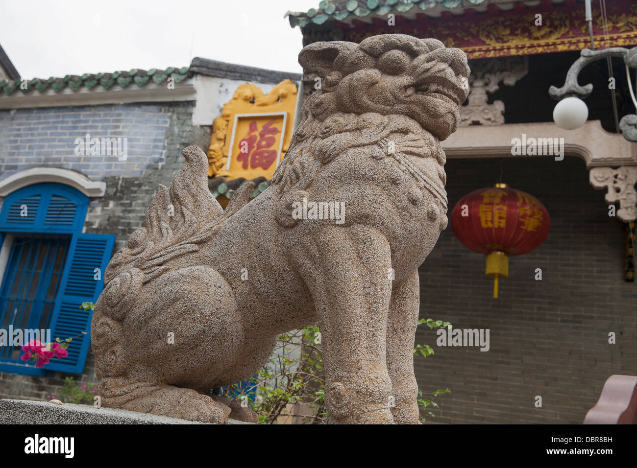 Dragon-like sculpture on grounds of Quang Trieu Assembly Hall, Hoi An, Vietnam, Southeast Asia - Stock Image