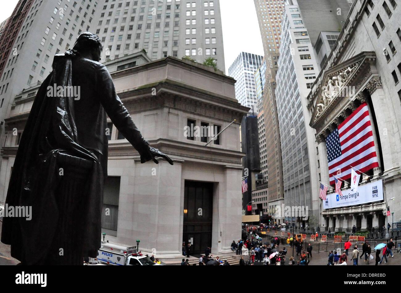 Wall street in Manhattan New York ,USA. - Stock Image