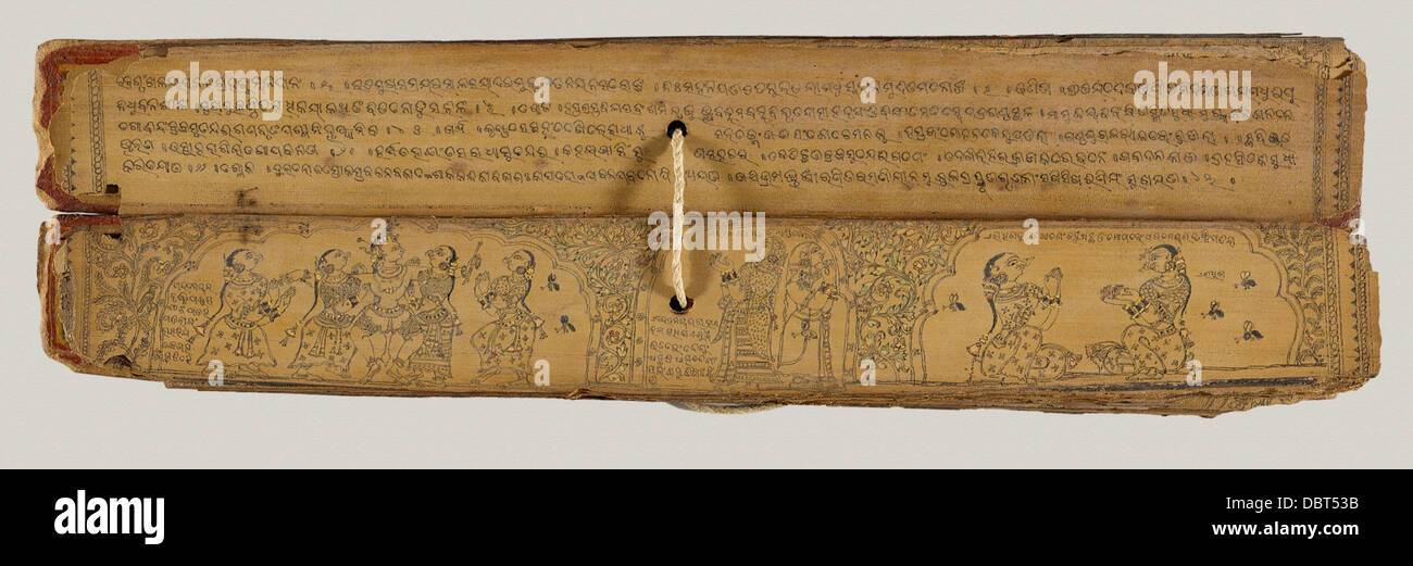 Gita Govinda (Song of the Cowherd) Manuscript M.71.1.33 - Stock Image