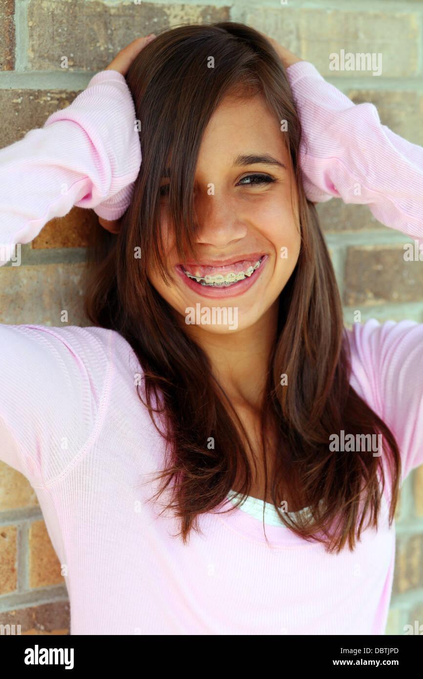 teen facial brunette Pretty