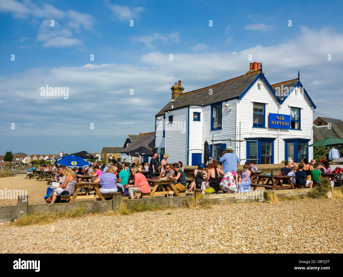 The Old Neptune Pub on the Beach Whitstable Kent Stock Photo