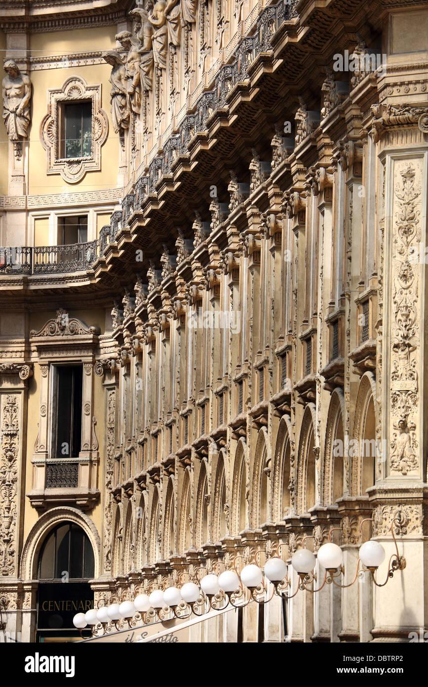 Interior of Galleria Vittorio Emanuele in Milan Italy - Stock Image