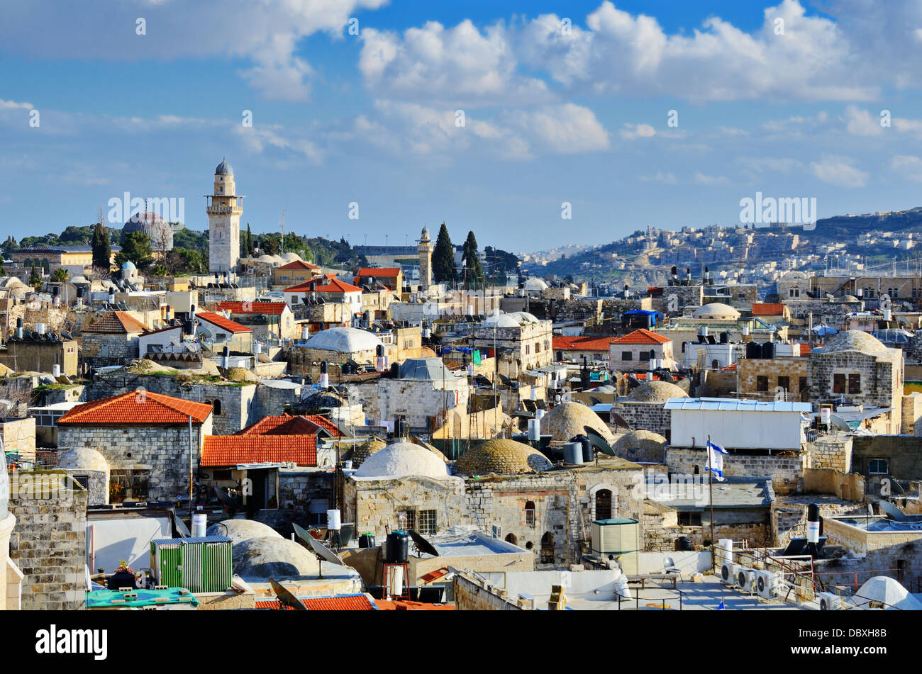 Skyline of the Old City in Jerusalem, Israel. - Stock Image