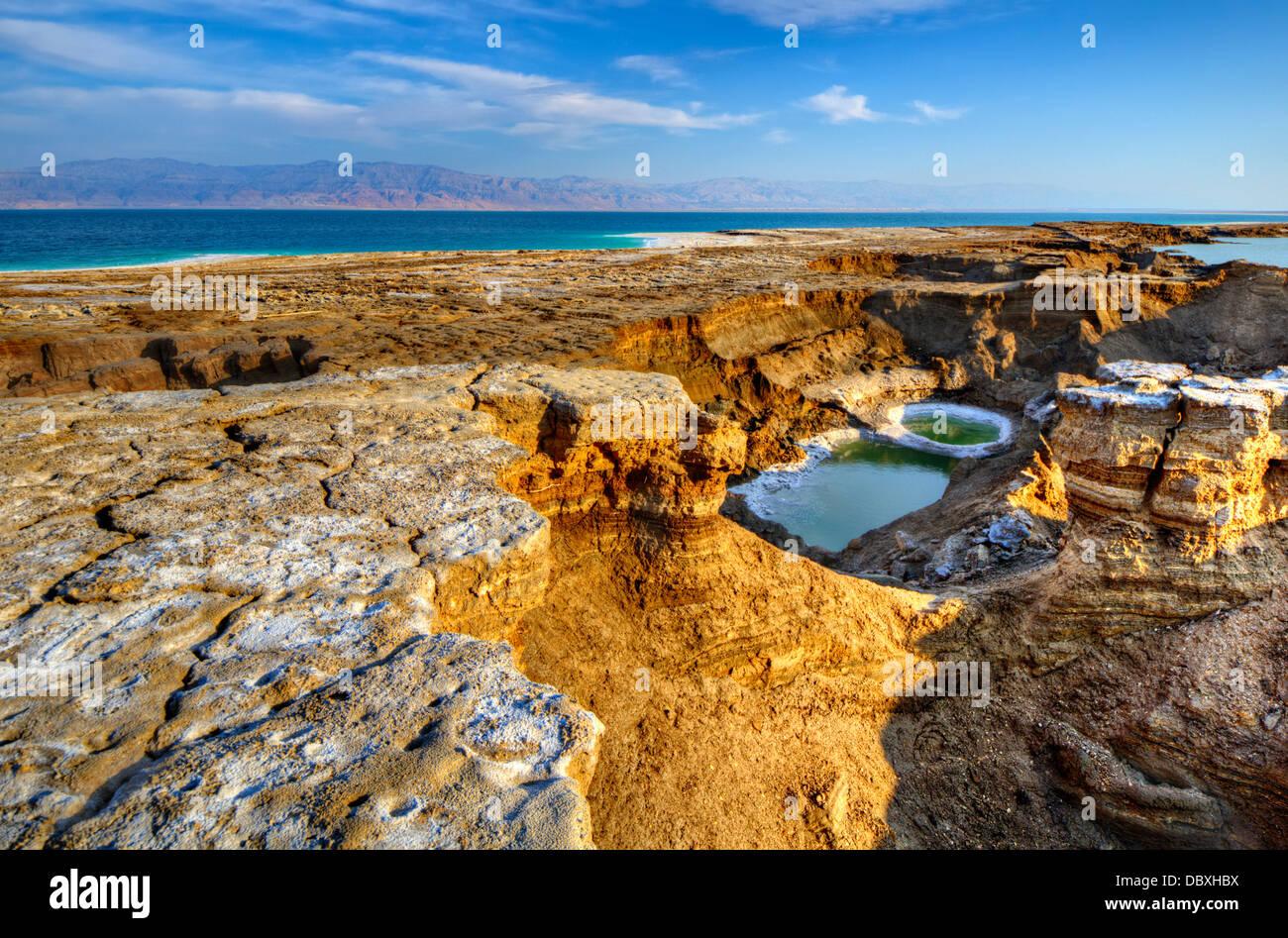 Sinkholes near the Dead Sea in Ein Gedi, Israel. - Stock Image