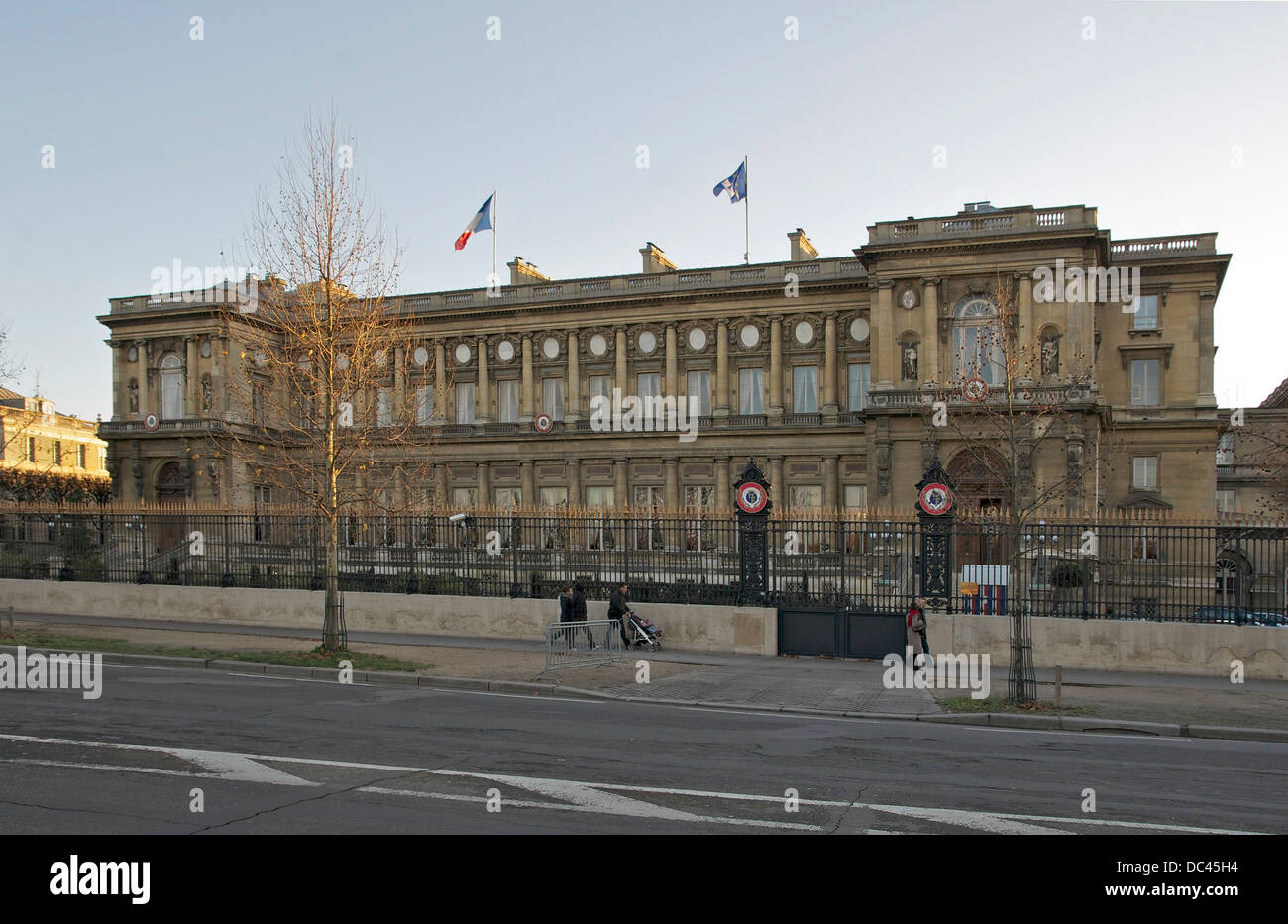 french Ministry of Foreign and European Affairs, facade quai d'Orsay, Paris. - Stock Image