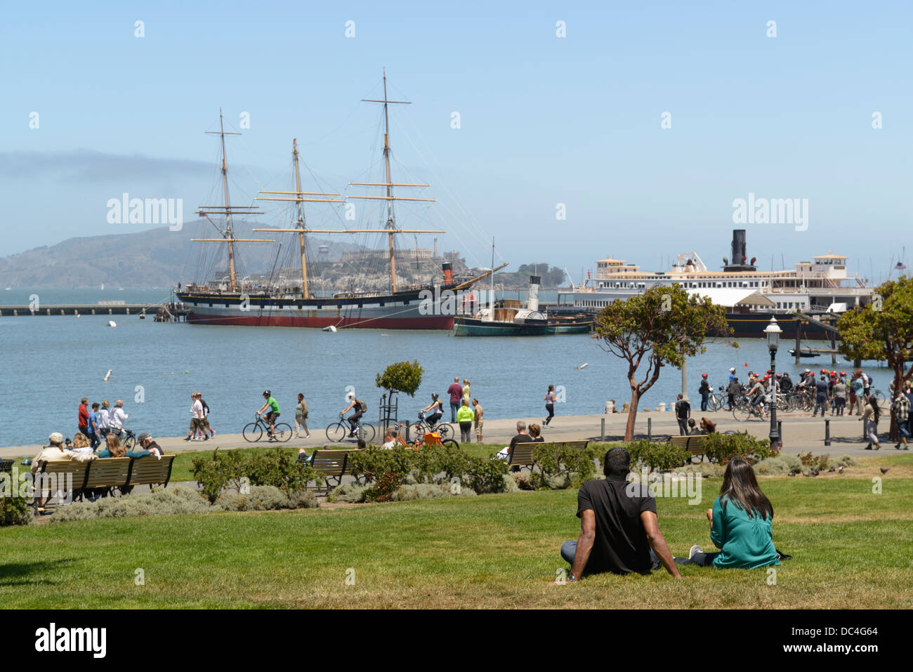 Maritime National Historic Park and Aquatic Park, San Francisco, CA - Stock Image
