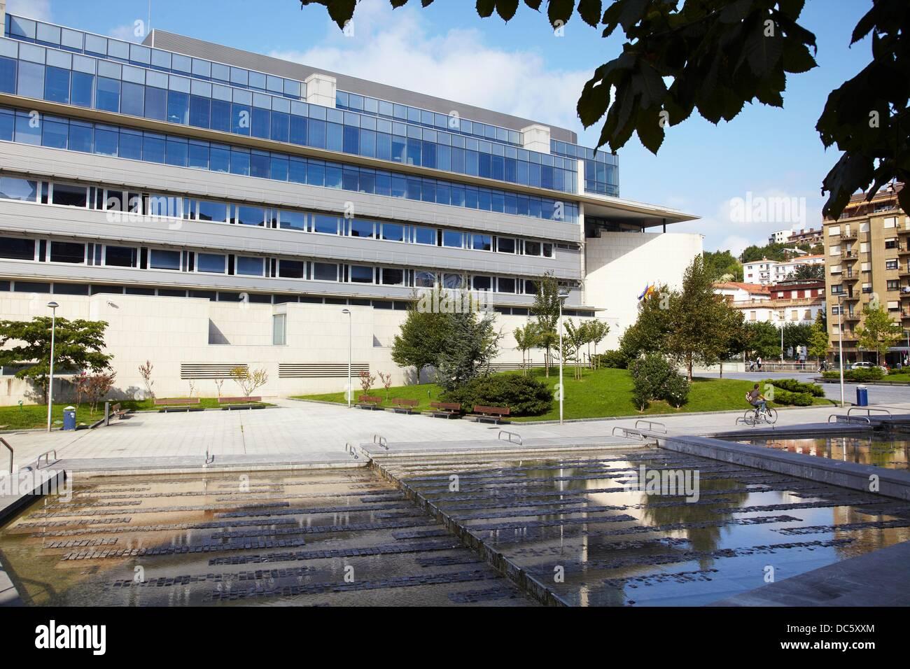 Couthouse, San Sebastian, Donostia, Gipuzkoa, Basque Country, Spain - Stock Image
