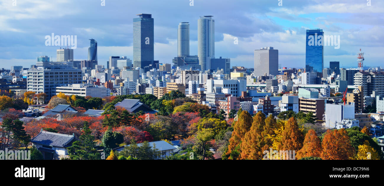 Nagoya, Japan downtown skyline panorama. - Stock Image