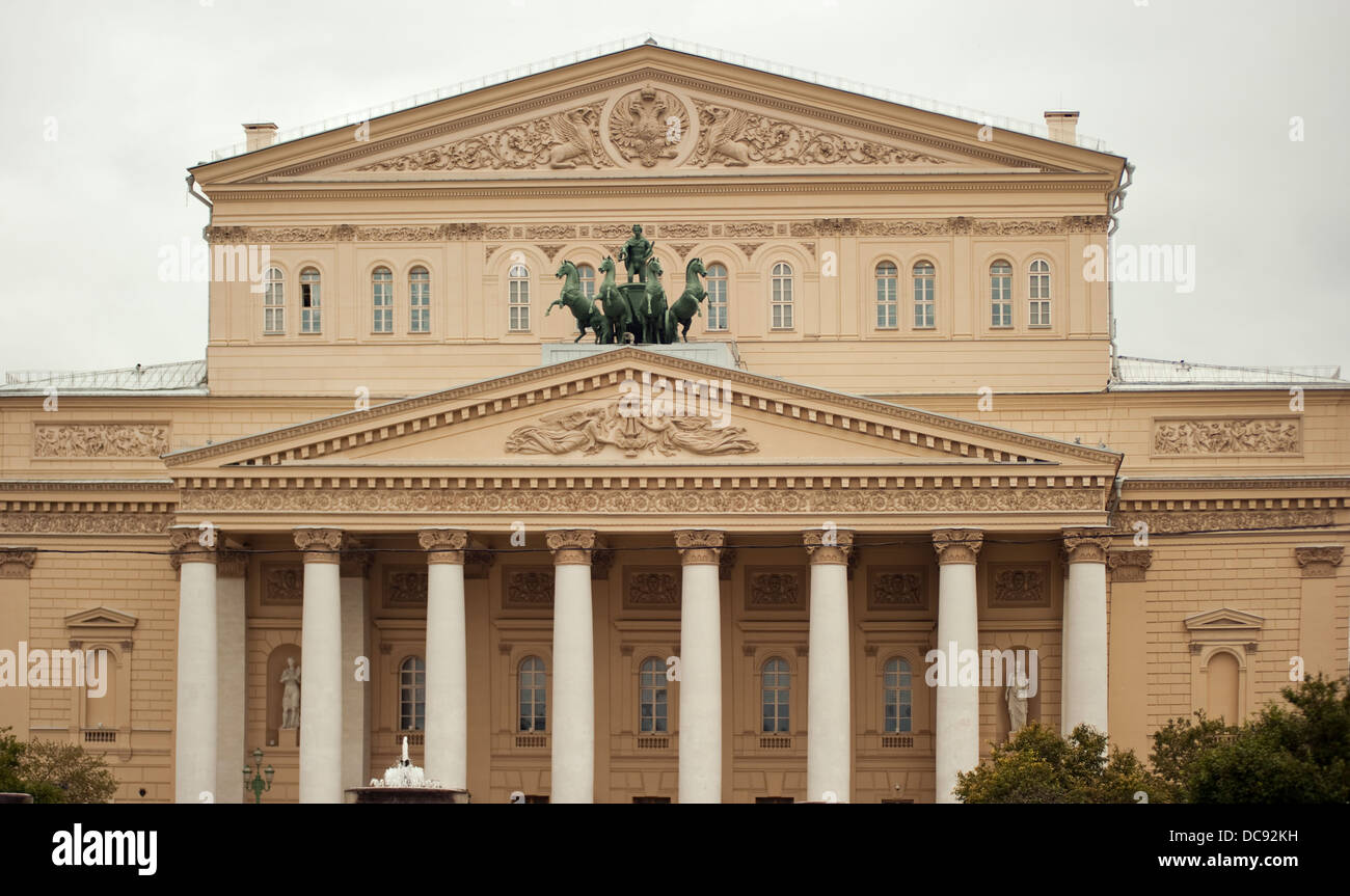 Historical Bolshoi Theatre Moscow Russia - Stock Image