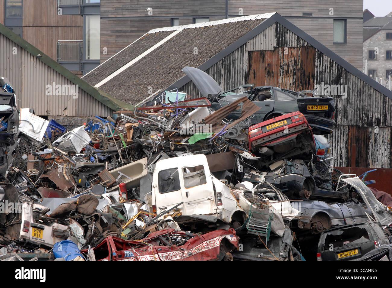 Car Breakers scrap yard in Plymouth Stock Photo: 59243553 - Alamy
