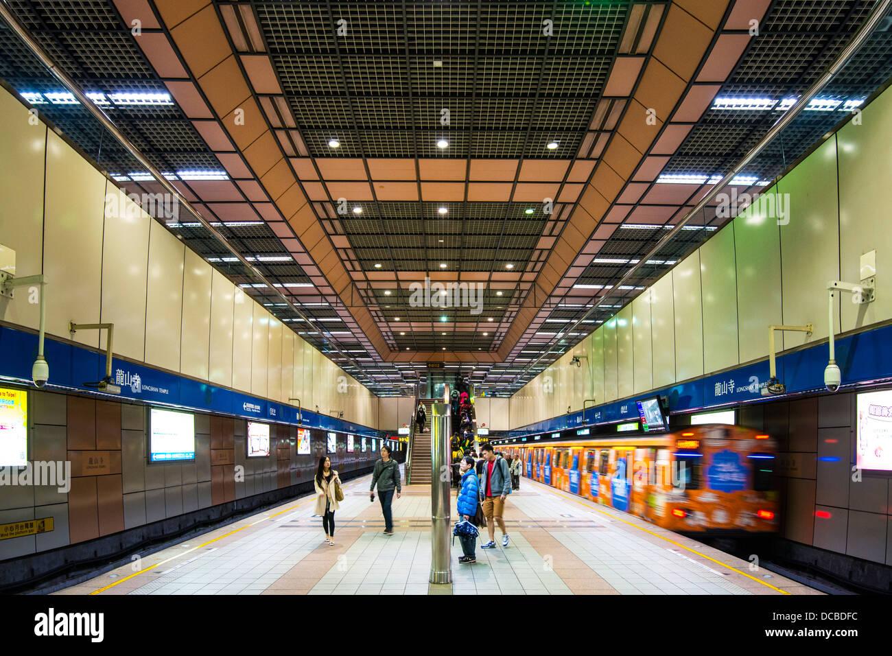 Longshan Temple Station in Taipei, Taiwan. Stock Photo