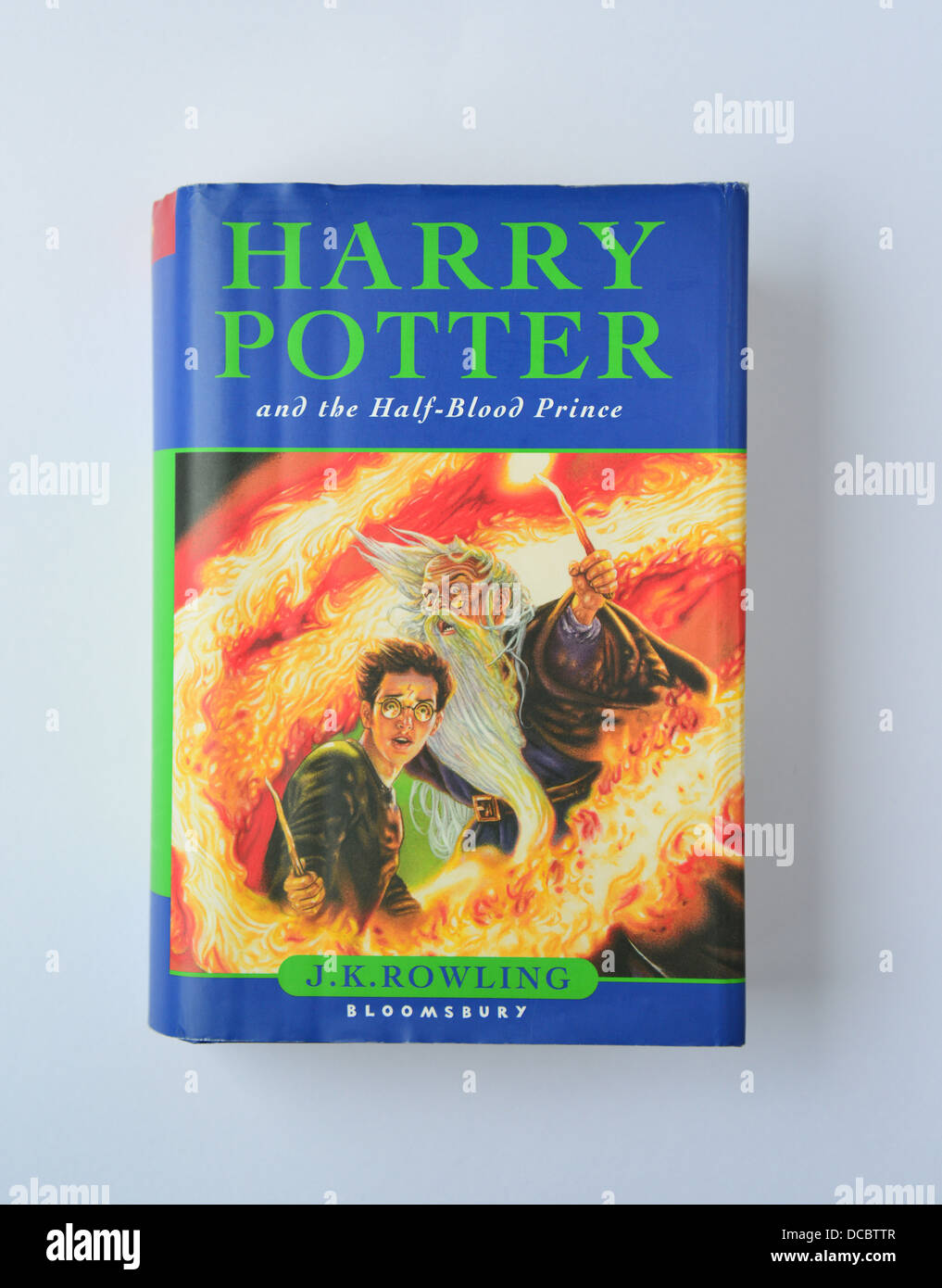 J.K.Rowling's 'Harry Potter and the Half-Blooded Prince' book, Surrey, England, United Kingdom - Stock Image