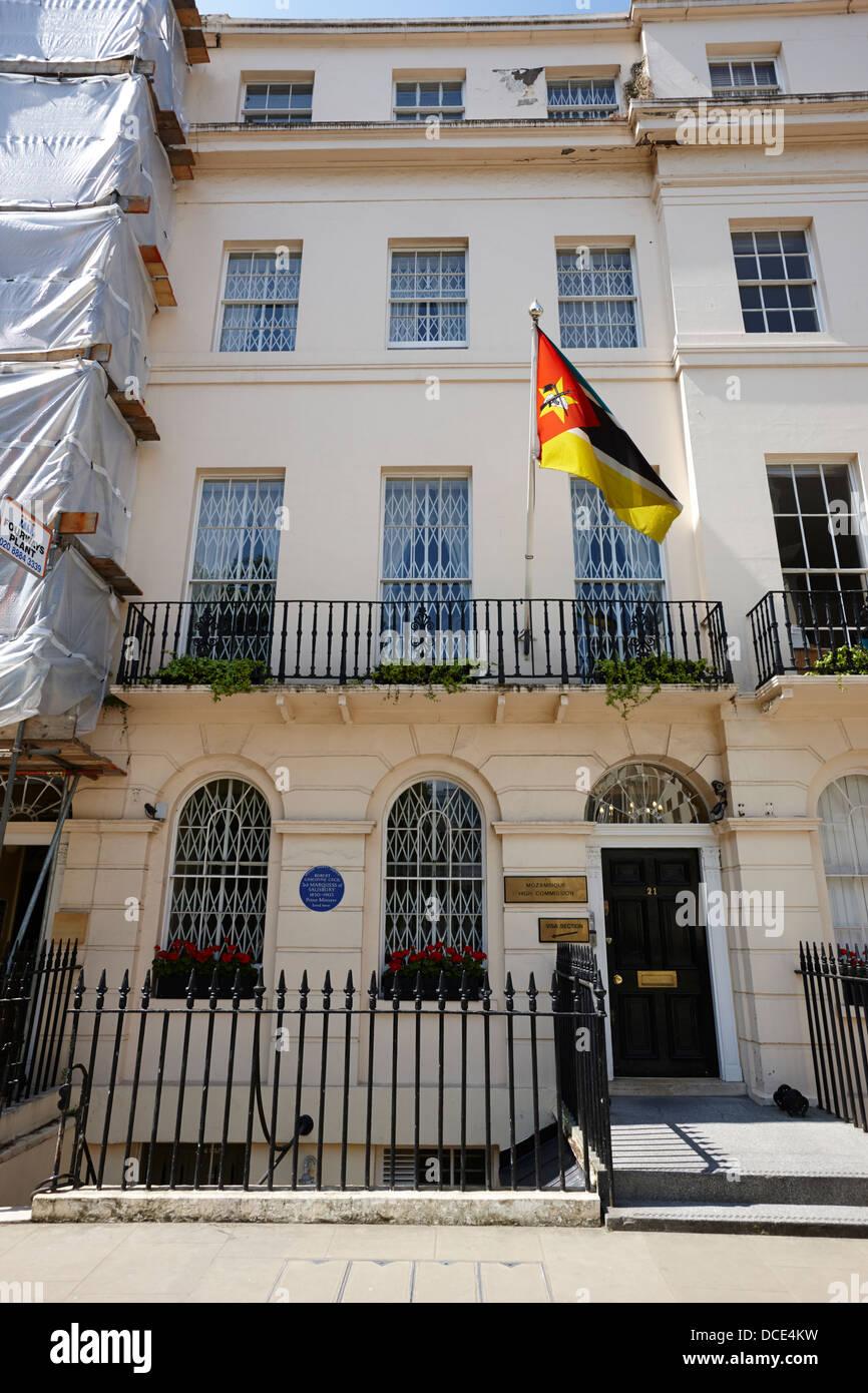 mozambique high commission London England UK - Stock Image