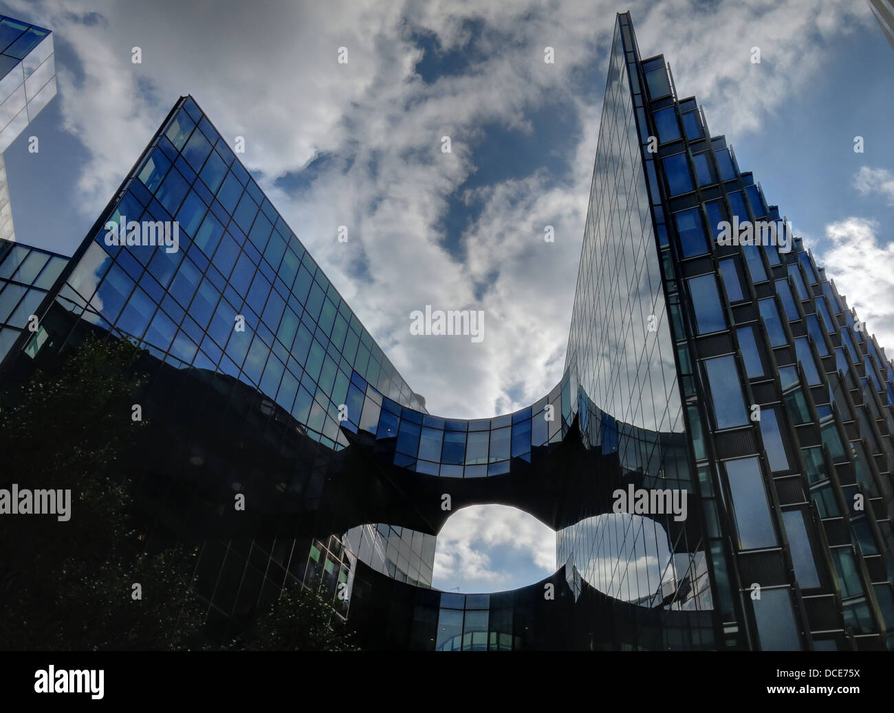 buildings,architecture,architect,greener,green,glass,space,sensor,ESCUBE,Breeam,Outstanding',rating,for,particularly,sustainable,technical,building,design,Bridge,and,City,Hall,with,cloud,reflections.,Gotonysmith,Buy Pictures of,Buy Images Of
