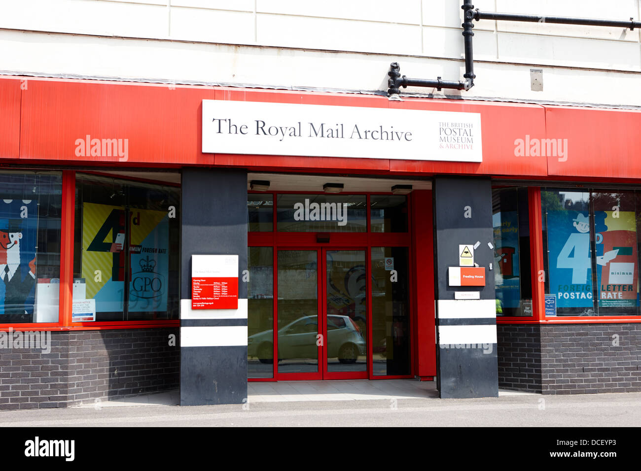 the royal mail archive and british postal museum at mount pleasant sorting office London England UK - Stock Image
