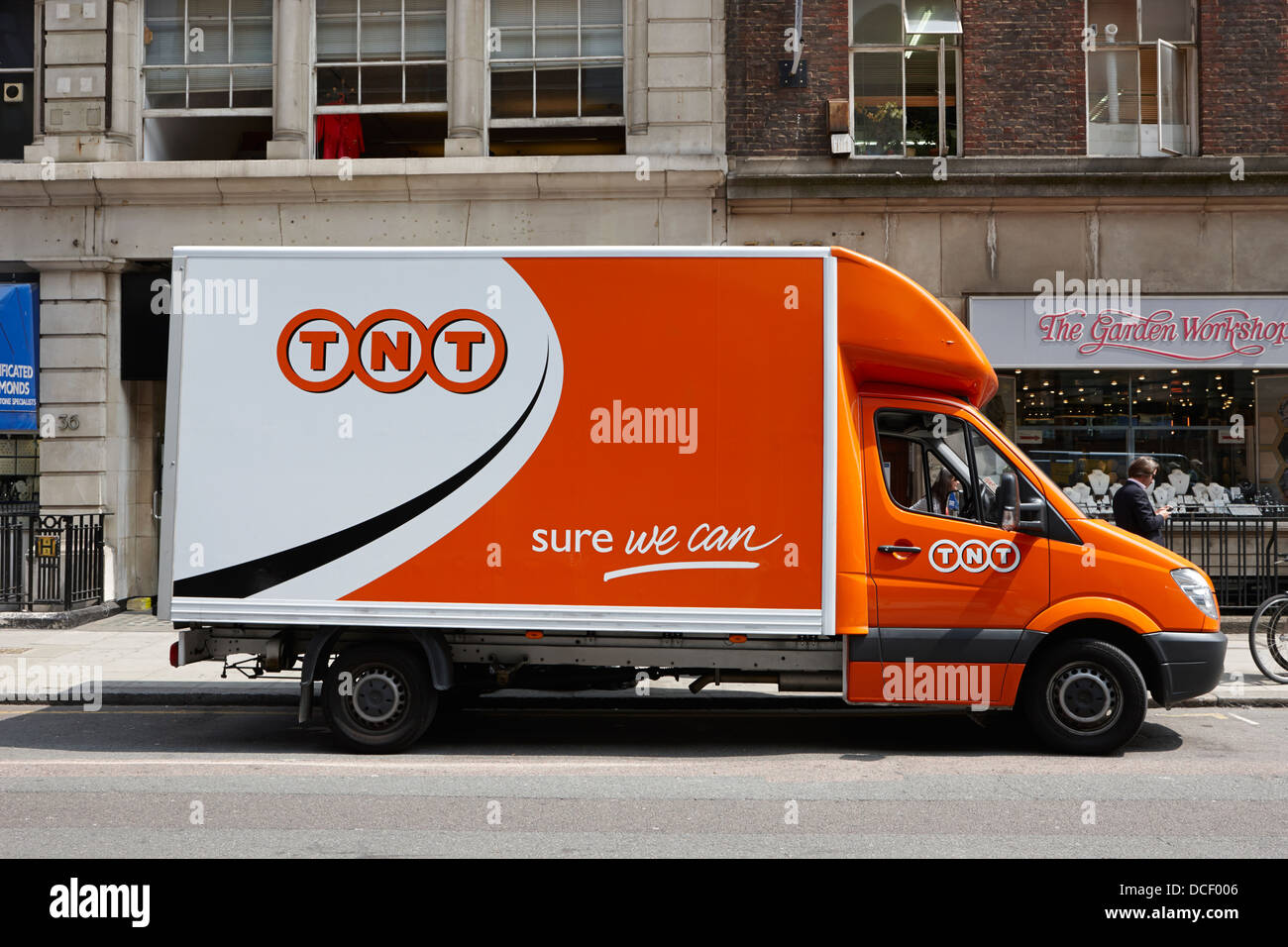 TNT mail and postal delivery van in central London England UK - Stock Image