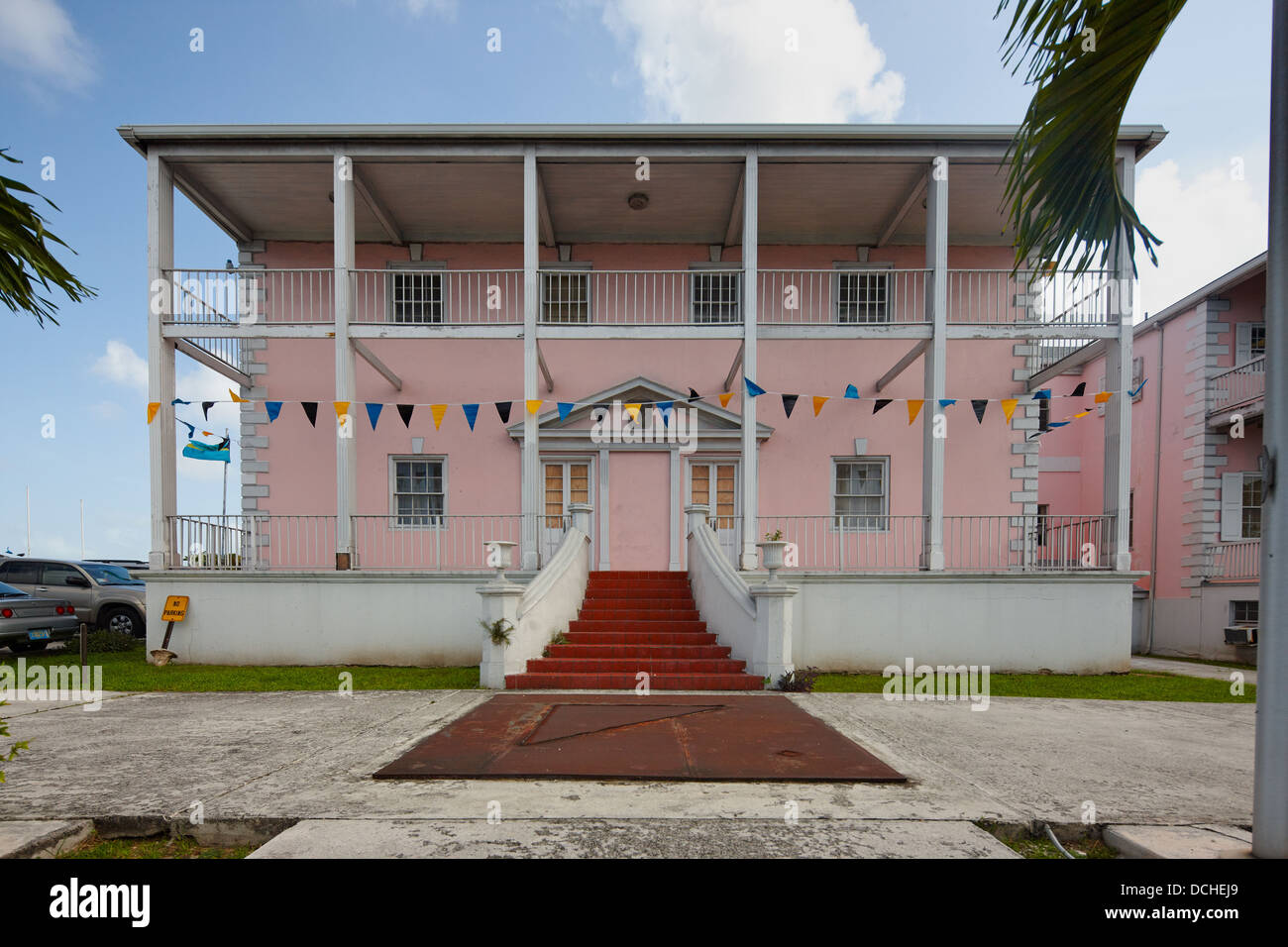 Ministry of Foreign Affairs, Nassau, New Providence Island, Bahamas, Carribean - Stock Image
