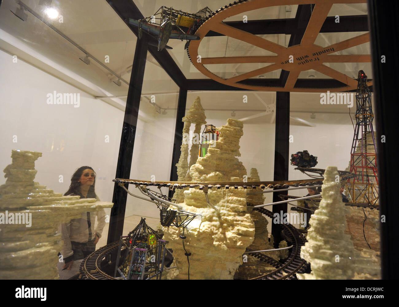 Zhivago Duncan: Pretentious Crap Gesamtkunstwerk: New Art From Germany - exhibition press view held at the Saatchi Stock Photo